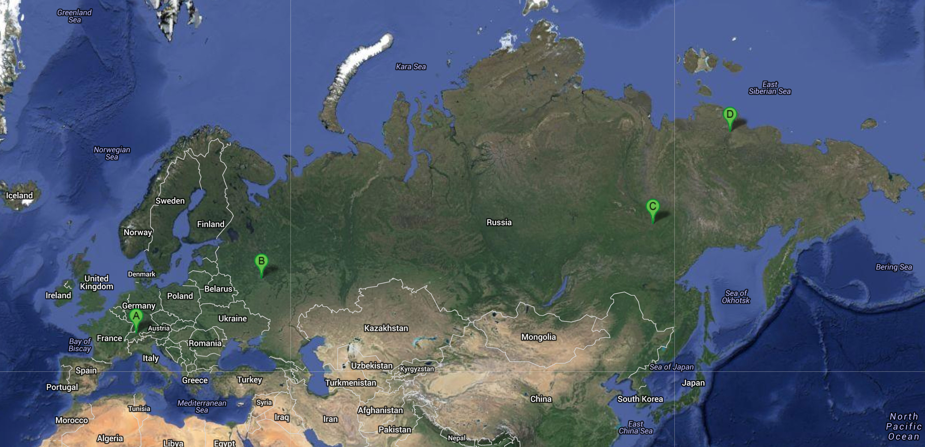 The last leg almost from zurich switzerland to chokurdakh russian federation map google earth gumiabroncs Gallery