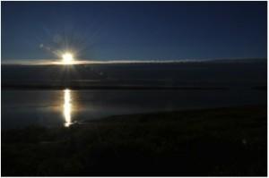 Still no sunset on July 26 in Ayutun (Photo: M. Schaepman, midnight, July 2013).