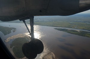 Ready to land in Yakutsk (Photo: M. Iturrate, August 2013).