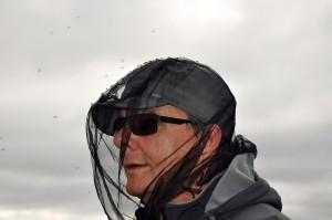 Michael Schaepman, in personal contact with all mosquitoes ... (Photo: G. Schaepman-Strub, August 2013).