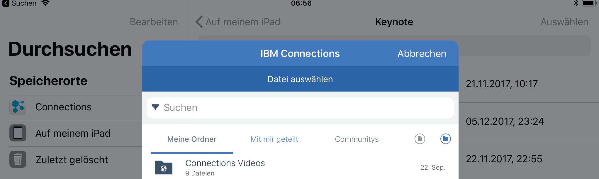 Integration in Dateien