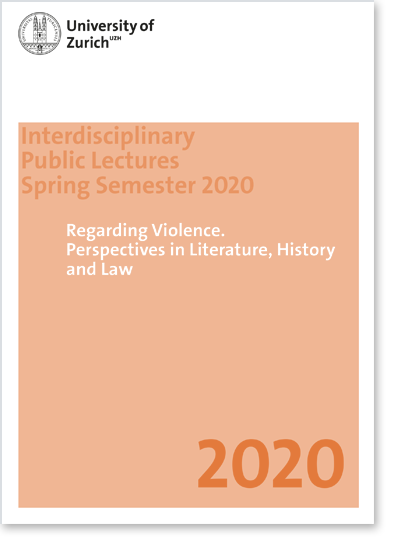 Regarding Violence. Perspectives in Literature, History and Law (Cover Flyer)