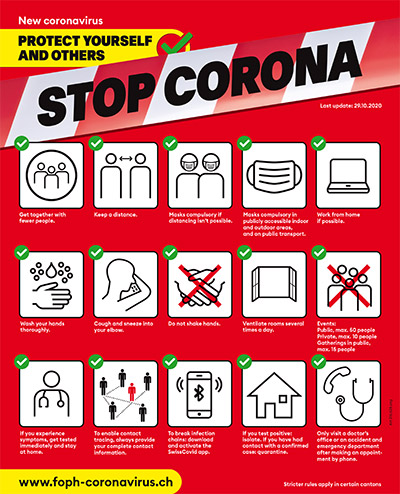 "FOPH Poster ""Stop Corona"""