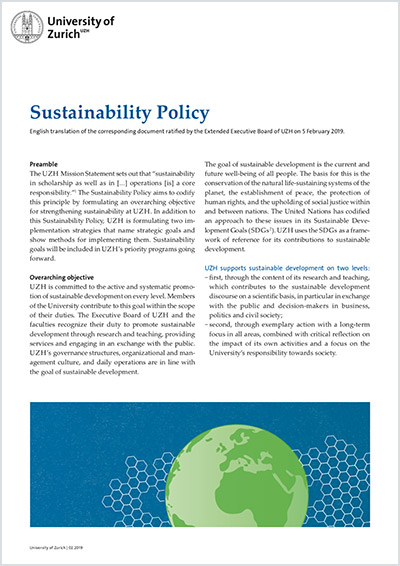 Sustainability Policy (Cover)