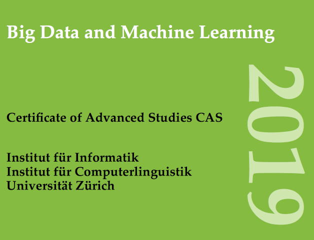 "CAS ""Big Data and Machine Learning"" 2019"